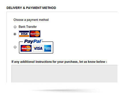 Payment Methods Filtered by Country